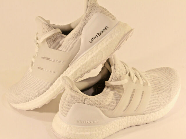 huge selection of a973b 13a5d Mens adidas Ultra Boost Triple White 3.0 SNEAKERS BA8841 Ultraboost Shoes 8