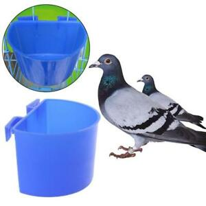 10-Wasserglas-haengender-Kaefig-Futterschalen-Tauben-Gefluegel-Fuetterung