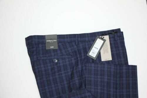 34S Navy Check Trousers . Men/'s Kenneth Cole sample 5290