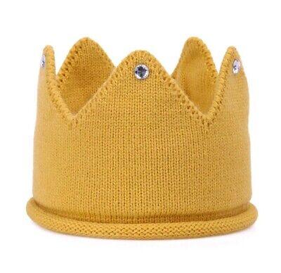 Cappello Corona In Lana Per Bambini (cm 20 X 10) Colore Senape