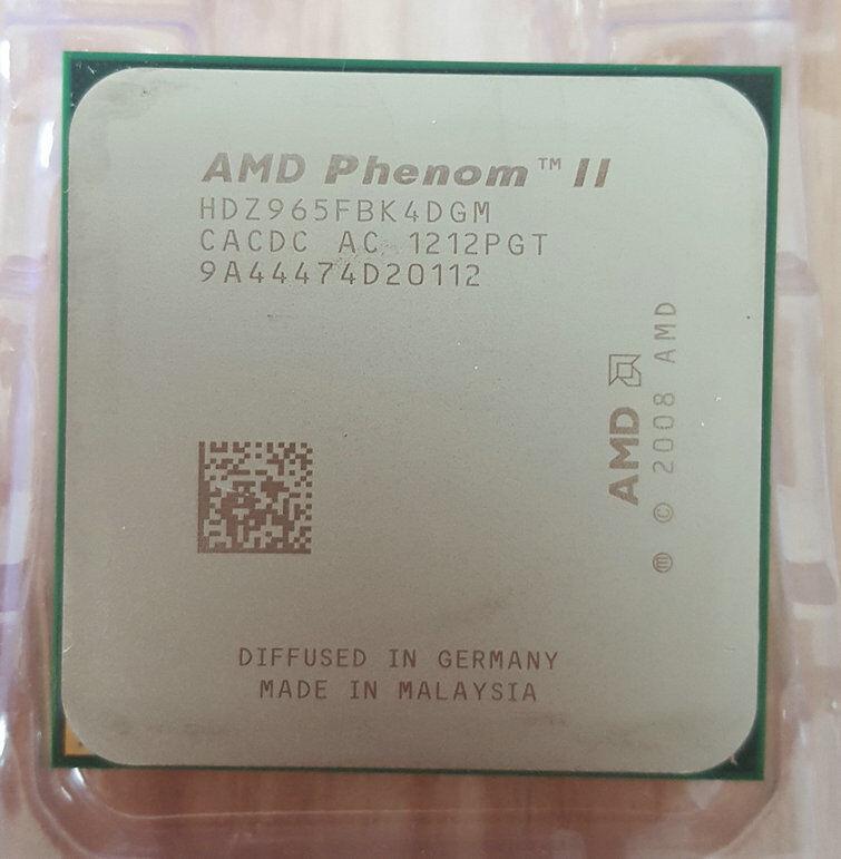 Amd Phenom Ii X4 965 3 4ghz Quad Core Hdz965fbk4dgm Processor For Sale Online Ebay