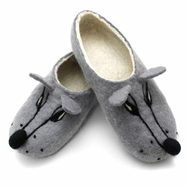 Zapatillas de Lana Lobo Zorro ruso and 100% hecho a mano Valenki sanitaria marca