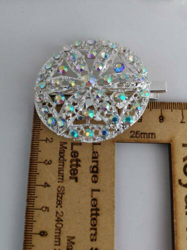 TIARA Diamante Crystal Kirby BOBBY Hair Clip Pin Slide Grip Girl Ladies Party