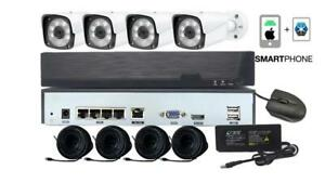 Startek Kit Of 4 Cameras 3MP NVR Package, PoE, 1TB Free & Fast Shipping Canada Preview