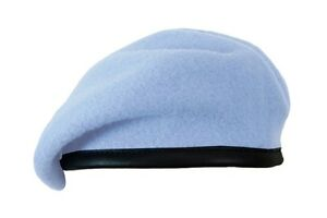 d1c9acfe 100% Wool BRITISH BERET - All Sizes Army AIR CORPS BLUE Military ...