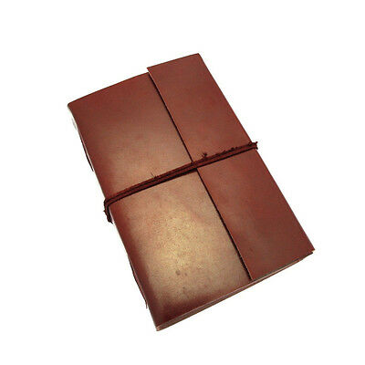 Fair Trade Handmade Extra Large Plain Leather Journal Notebook Diary 2nd Quality