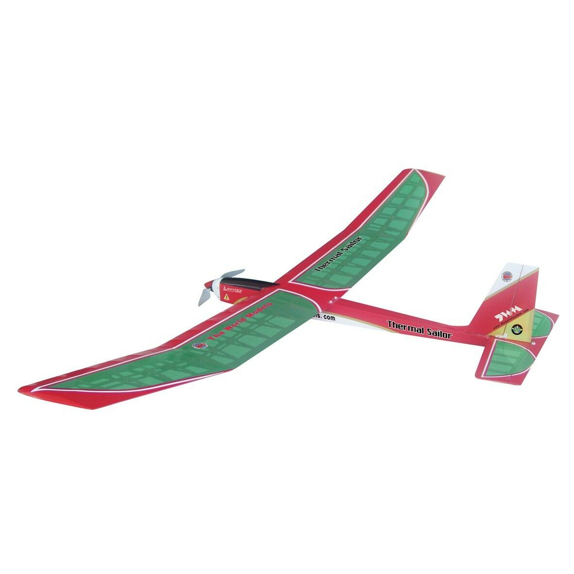 THE WORLD MODELS THERMAL SAILOR EP  verde COLOR  Radio Control Airplane