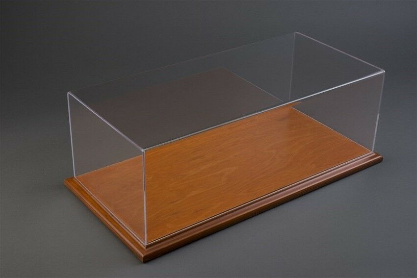 Molsheim Display Case W  Cherry Couleur Wood Base (Wide Edge) for 1 24 Models