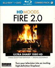 HD MOODS FIRE 2.0 VIRTUAL CHRISTMAS HALLOWEEN FIREPLACE SCENES BLU-RAY+DVD COMBO
