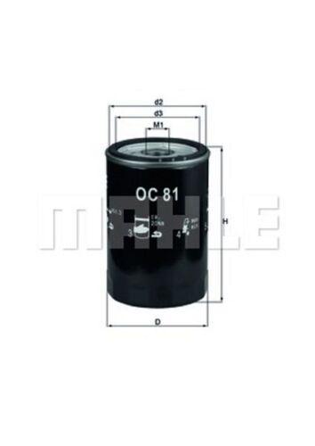 Mahle OC 81 Ölfilter PONTIAC OLDSMOBILE CHEVROLET CADILLAC BUICK