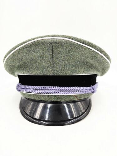 WW2 German military  Elite oficial Visor sombrero mundo White edge