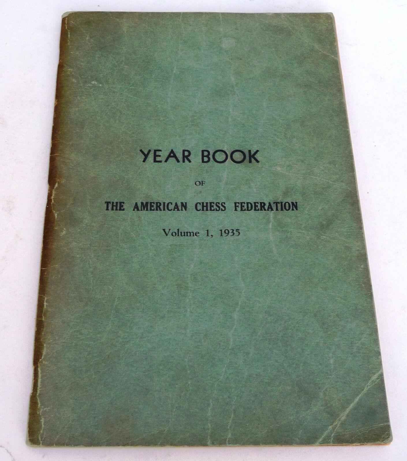 1935-American Chess Federation Yearbok skriven av Arpad Elo