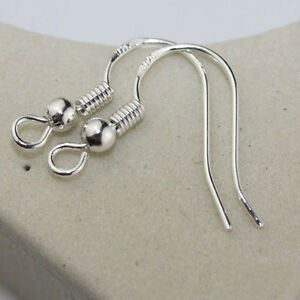100Pcs-Sterling-Silver-Earring-Fish-Hooks-Ear-wires-Findings-With-Ball-fd