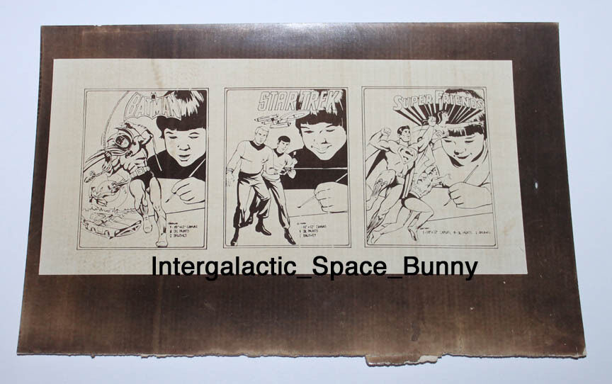 1978 Conjunto de Pintura Hasbro Batman Estrella Trek súper Amigos projootipo de línea interno-Arte