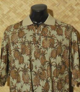 EUC-Large-Tori-Richard-Pullover-Men-039-s-Hawaiian-Cotton-Lawn-Shirt-Polo-L