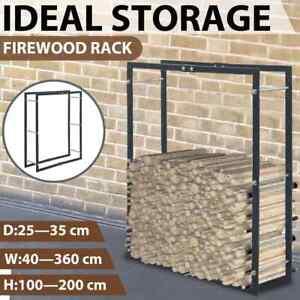 vidaXL Firewood Rack Stacker Organiser Steel Anthracite/Black Multi Sizes