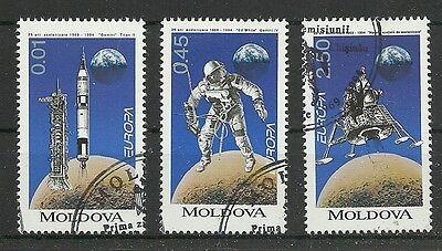 Cept 1994-raumfahrt/ Moldawien Minr 106/08 O Ersttagstempel SchüTtelfrost Und Schmerzen Briefmarken