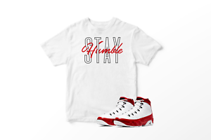 Stay-Humble-Graphic-T-Shirt-To-Match-Air-Jordan-Retro-9-Red-All-Sizes
