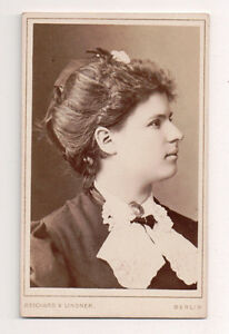 Vintage-CDV-Frau-Richter-German-Actress-Reichard-amp-Lindner-Photo-Berlin