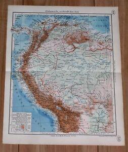 1937 map of colombia ecuador venezuela peru south america ebay image is loading 1937 map of colombia ecuador venezuela peru south gumiabroncs Gallery
