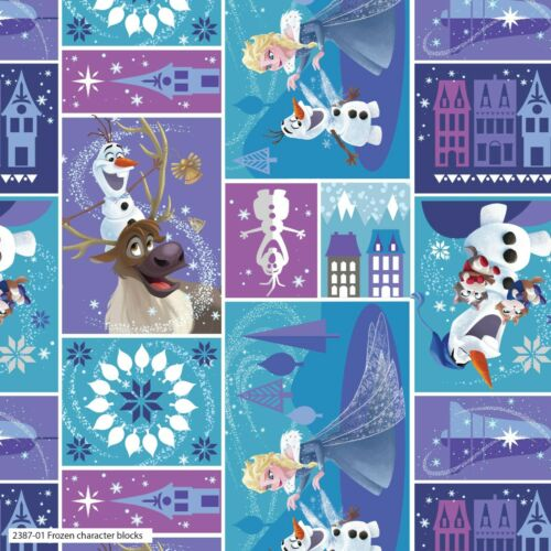 Frozen Elsa Anna Olaf con licencia 100/% Algodón Patchwork Quilting fabric