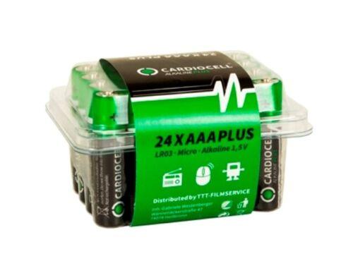 96 x CardioCell Plus Alkaline AAA MN2400 LR03 Micro 1,5V 4 x 24er Box