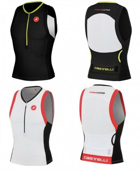 Castelli Free Tri Top Rennrad-Trikot Wasserfest, white black red Gr S - 8613024