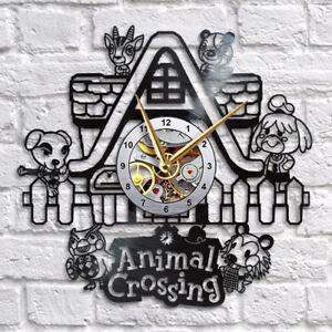 Animal Crossing Clock Animal Crossing Isabelle Vinyl Record Wall Clock Ebay