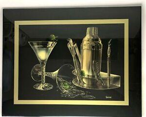 Michael-Godard-THREE-AMIGOS-Olive-Martini-Wall-Art-Acyrlic-Resin-Framed-26x33