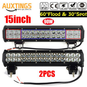 2PCS-90W-15Inch-Led-Work-Light-Bar-Combo-Beam-Off-road-Driving-Truck-SUV-4WD