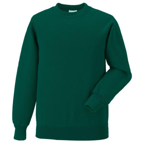School Uniform Sweatshirt Jumper Boy Girl Russell Jerzees Childrens Crew Neck