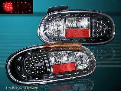 99 00 01 02 03 04 05 MAZDA MIATA MX-5 BLK LED TAIL LIGHTS BRAKE LAMPS 1999-2005