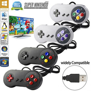 Details about USB Retro Controller For Classic Nintendo SNES PC Windows Mac  Game Accessories