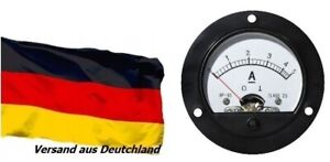 DC 0-60A Round Analog Ammeter Panel Current Meter Dia 66.4mm DH52 with shunt