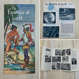 FOUNTAIN OF YOUTH - Booklet Map St Augustine Florida Travel Guide Pamphlet