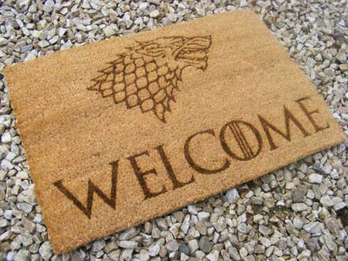 HARRY POTTER INSPIRED WIZARDS WELCOME COIR DOOR MAT FRONT BACK GIFT IDEA PRESENT