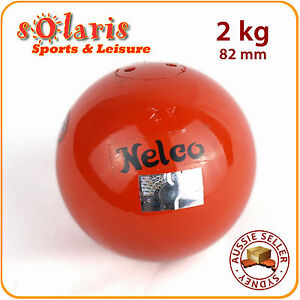NELCO-2kg-TURNED-Competition-Grade-Shot-Put-82-mm-Athletics-Throw-Equipment