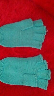 Angemessen Strick - Handschuhe Ohne Finger Fingerlose Handschuhe Grün Einfach Zu Schmieren