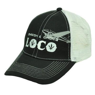 Inteligente Cheech Chong Loco Marijuana Erba Rete Nero Bianco Cappello Camionista Cappello Distintivo Per Le Sue Proprietà Tradizionali