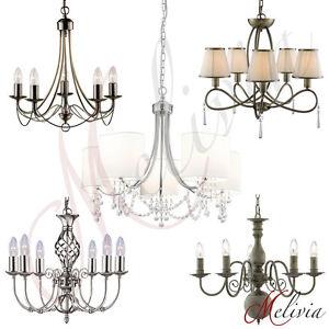 Lampe-suspendue-Lustre-chrome-blanc-laiton-verre-tissu-cristal-Luminaire