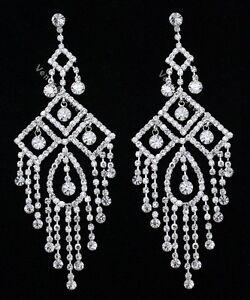 4-75-Bridal-Prom-Pageant-Crystal-Chandelier-Earrings