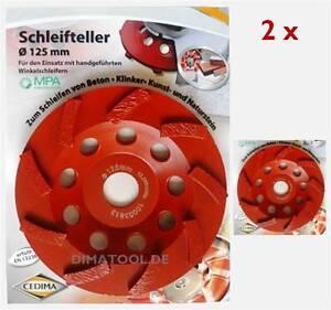 2x-125mm-Cedima-Schleifteller-Schleiftopf