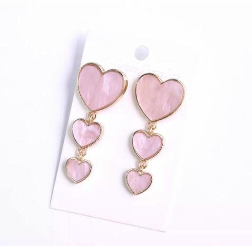Heart Women Dangle Earrings Love Cute Earrings For Women Drops Earrings