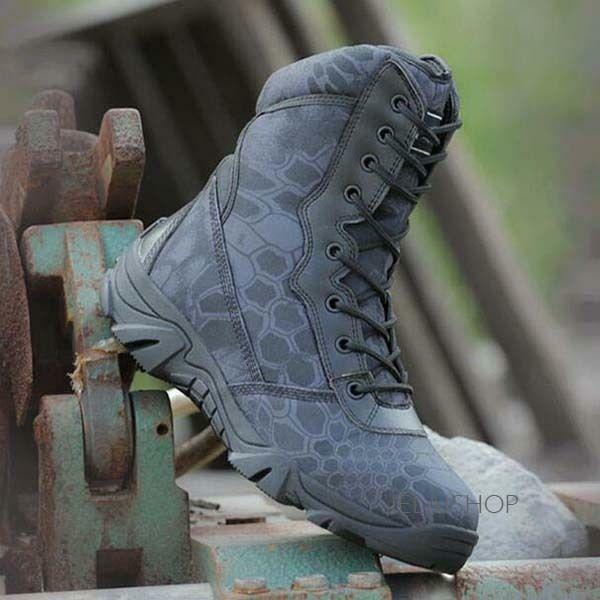 Men Military Tactical Combat Desert Ankle Boots Hiking Outdoor Boots Casual 094
