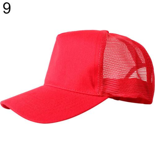 Fashion Mesh Baseball Cap Trucker Hat Blank Curved Visor Hat Adjustable Plain We