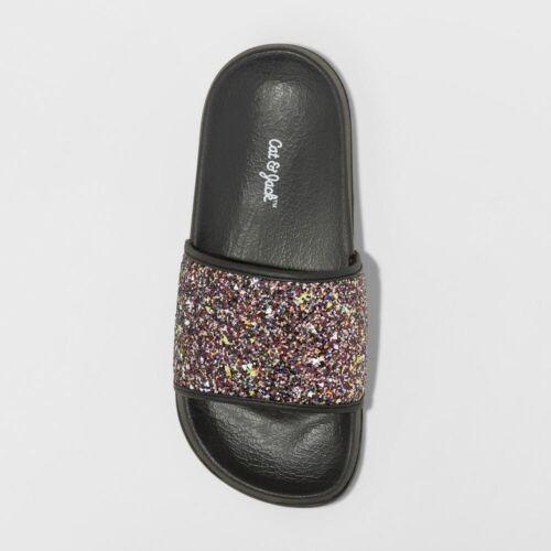 4-5 Girls/' Lexie Slide Sandals Cat /& Jack Black L