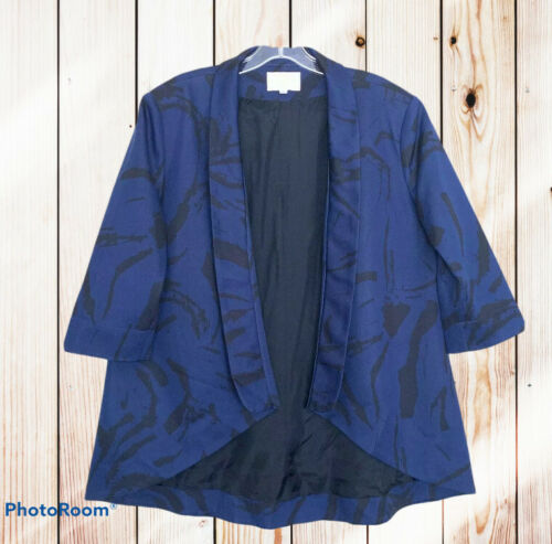 Vintage Dress Alberto Makali New York Designer Excellent Condition Wedding Special Occasion Navy Blue Black White