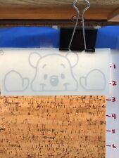 Winnie The Pooh Peaking Y7-1.81 White Vinyl Decal