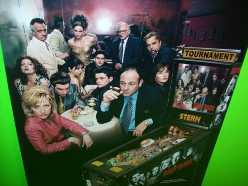 The Sopranos Pinball Machine 1 Sided FLYER Original NOS Game  Artwork HBO Stern