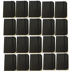 "Bulk Lot 20 Small Black Hardcover Pocket Notebook Journals 96 Pages 4.5x3"" Ruled"